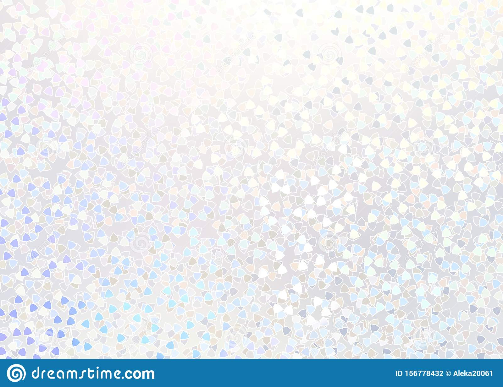 Wedding shimmer abstract subtle background. White iridescent sequins pattern. Pearl shine texture. Brilliance light illustration.
