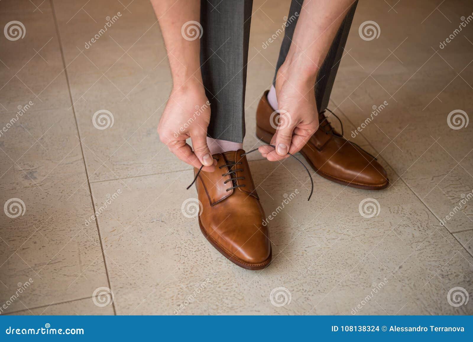 Wedding shoes and husband
