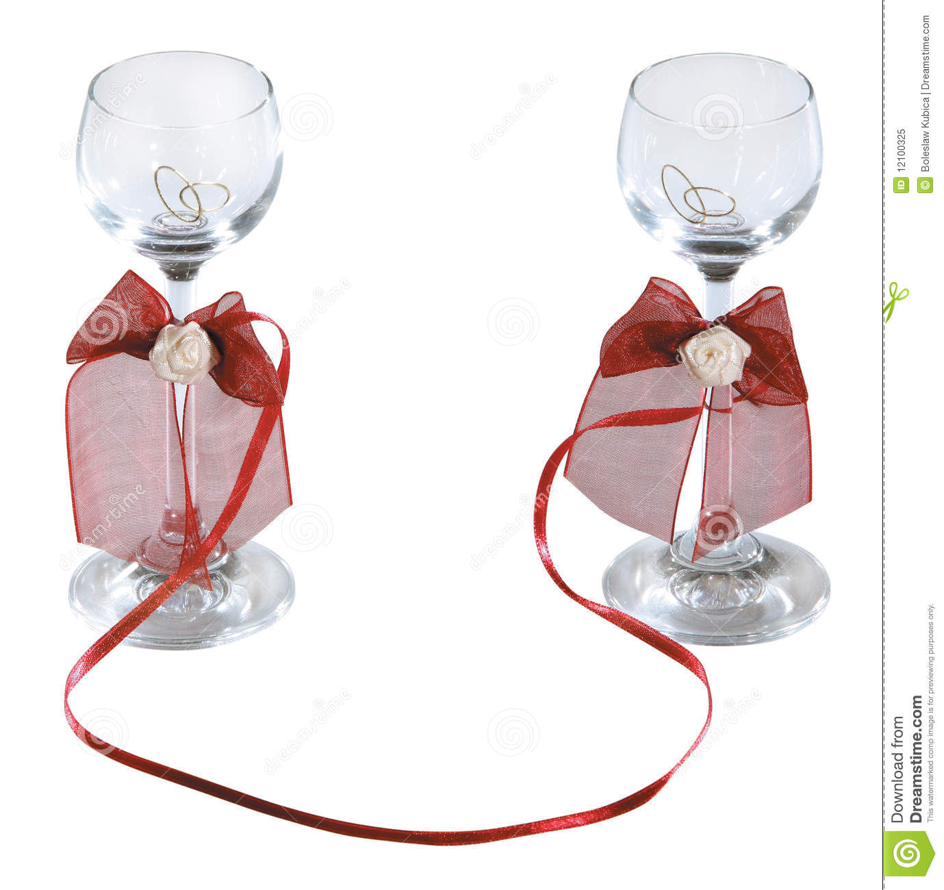 Wedding Shotglasses Of Vodka Stock Image