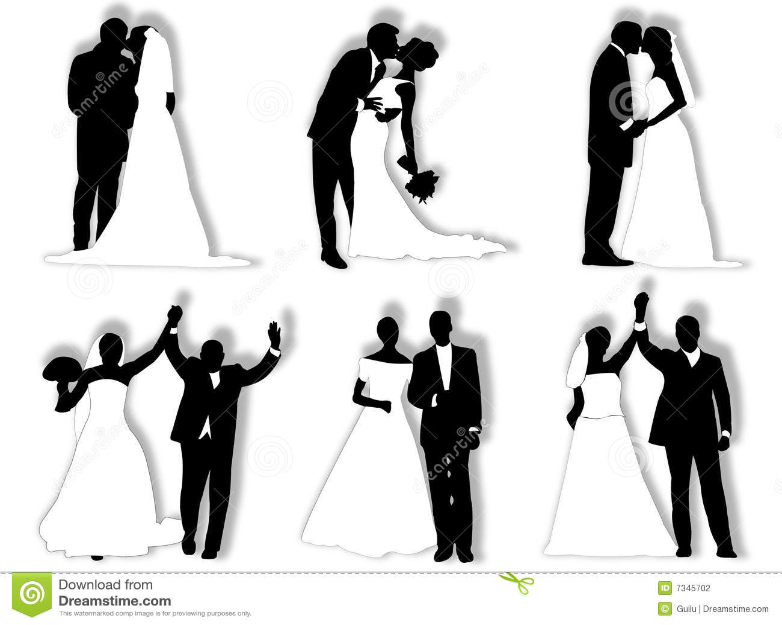Wedding silhouettes Wedding Party Silhouette