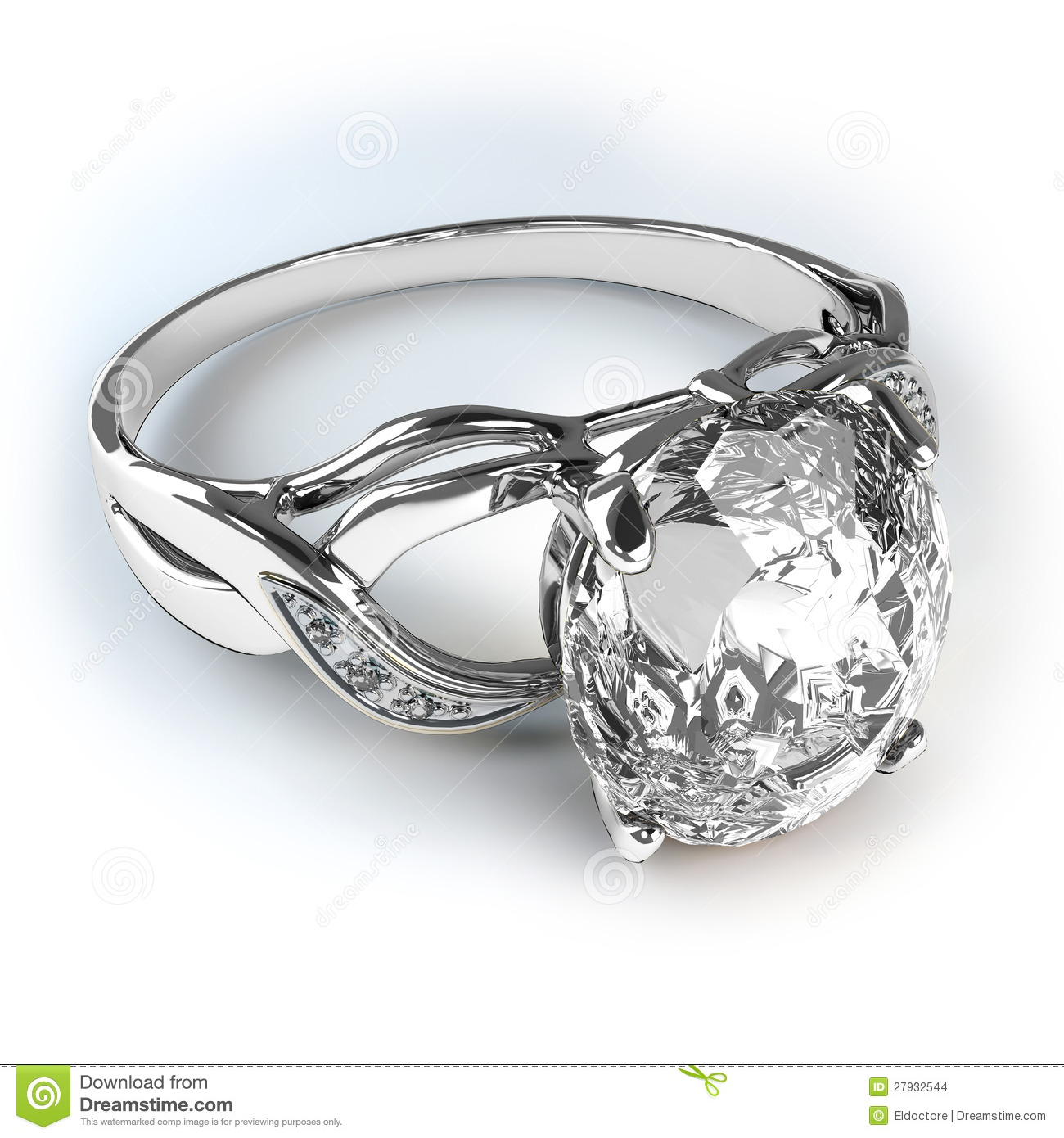 Wedding Silver Diamond Ring Stock Photo Image Of Relationship