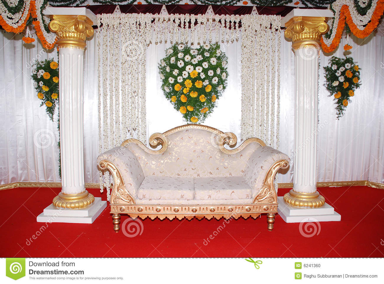 Wedding Sofa Stock Photo Image Of Stage Engagement