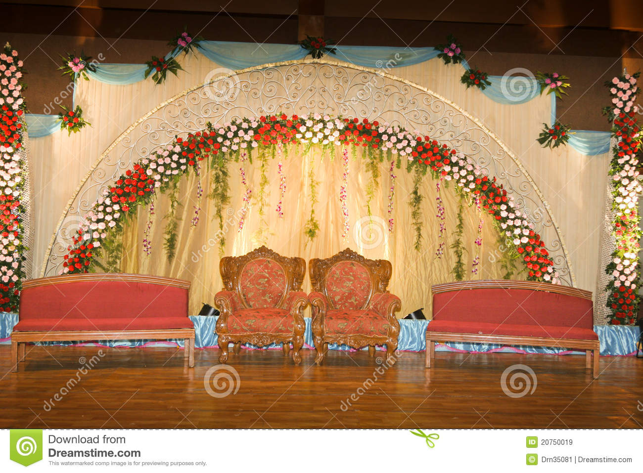 Wedding stage-02 stock image. Image of flora, curtain ...