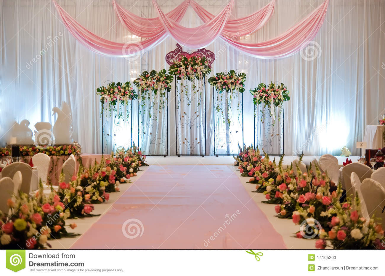 Wedding Stage Stock Photos Image 14105203