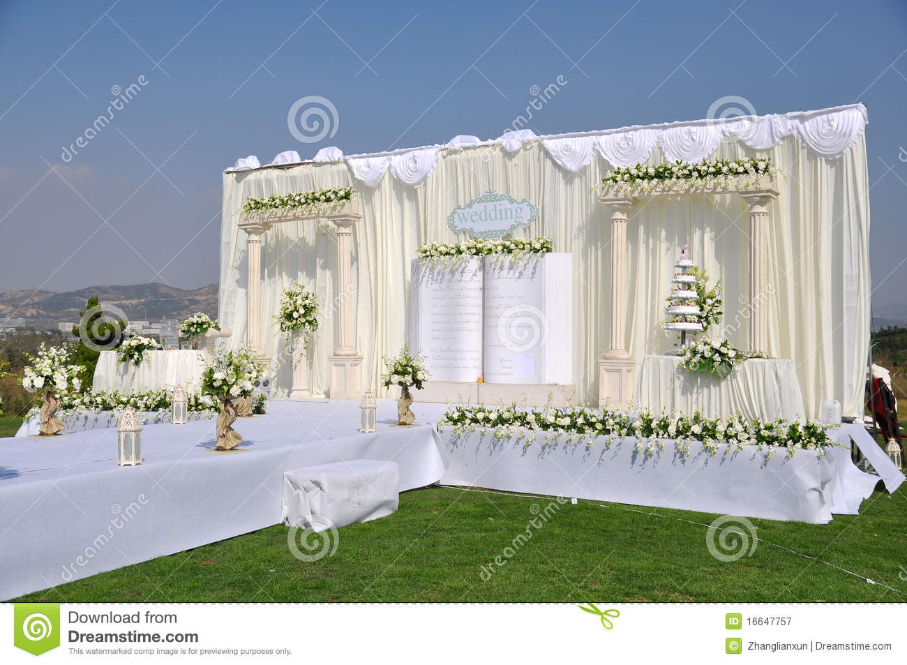 Wedding stage stock images download 3111 photos wedding stage an chinese wedding stage at outdoor photo taken in china royalty free junglespirit Gallery