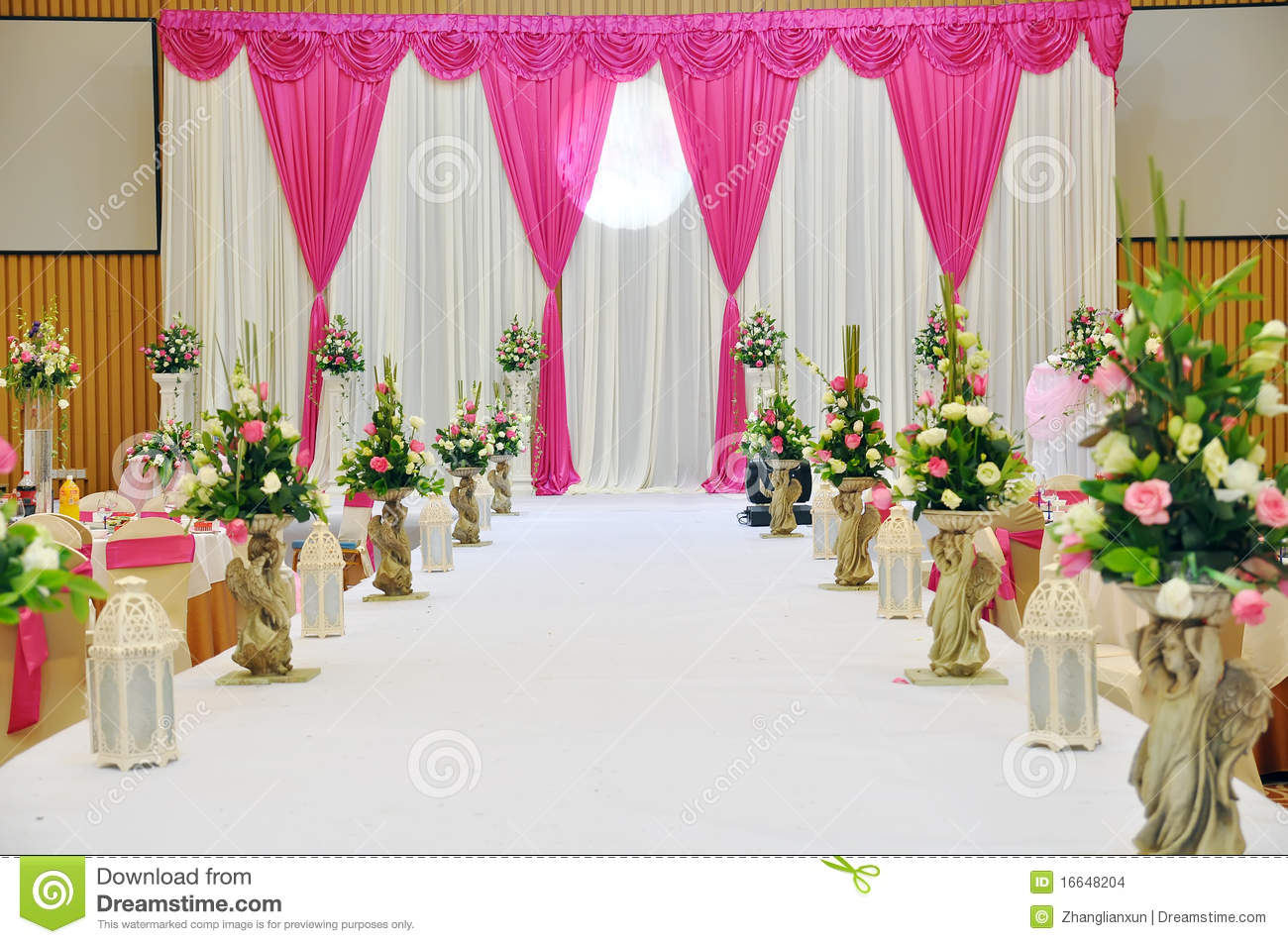 Mehndi Stage Background : Wedding stage decoration day time reception