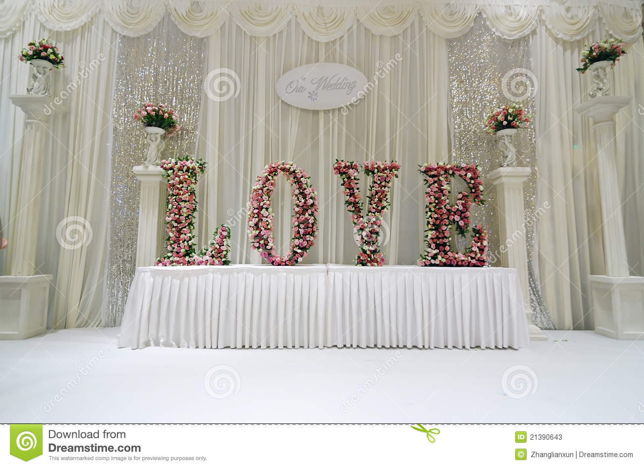 Wedding stage stock image image of designing floral 21390643 wedding stage junglespirit Choice Image