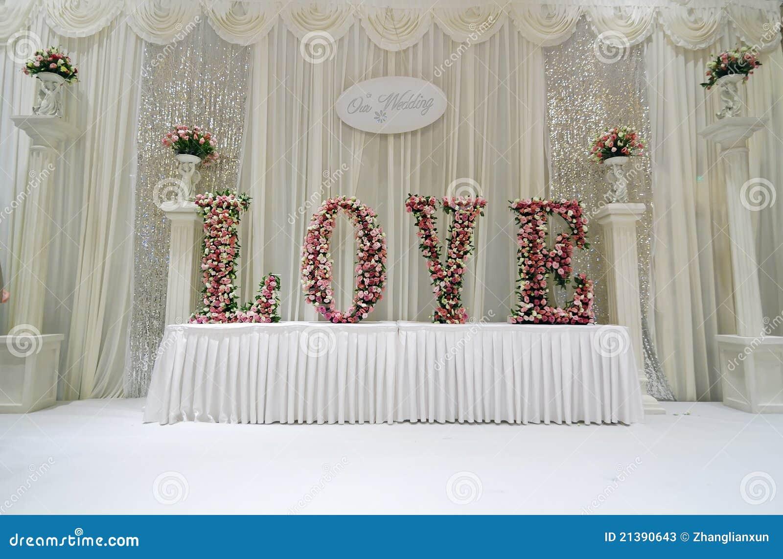wedding stage stock image image of designing floral 21390643. Black Bedroom Furniture Sets. Home Design Ideas
