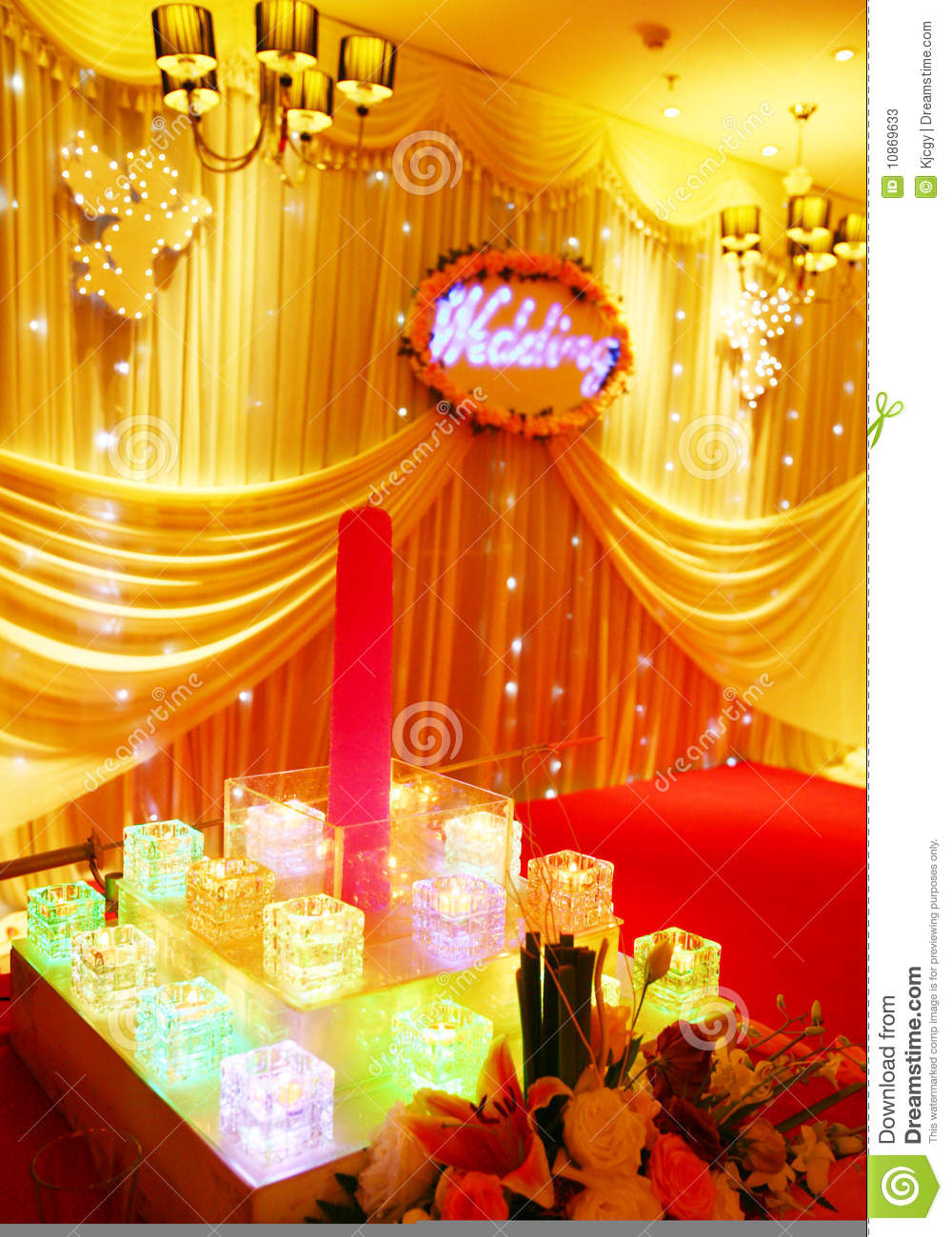 Wedding Stage Decoration Stock Illustration Illustration Of Candle