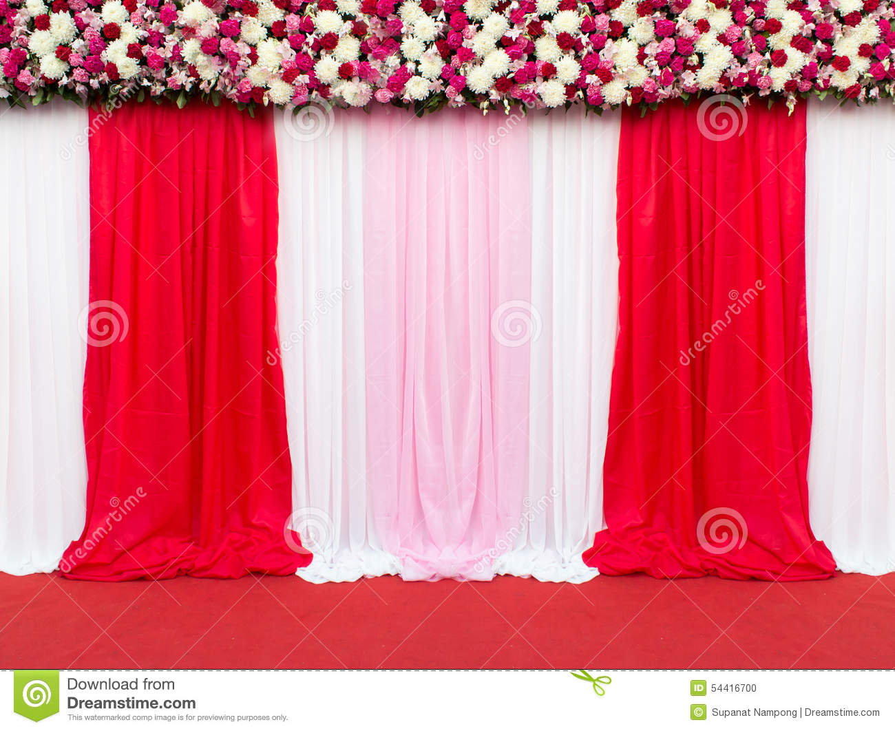 Wedding stage decoration for take picture stock photo for Marriage decoration photos