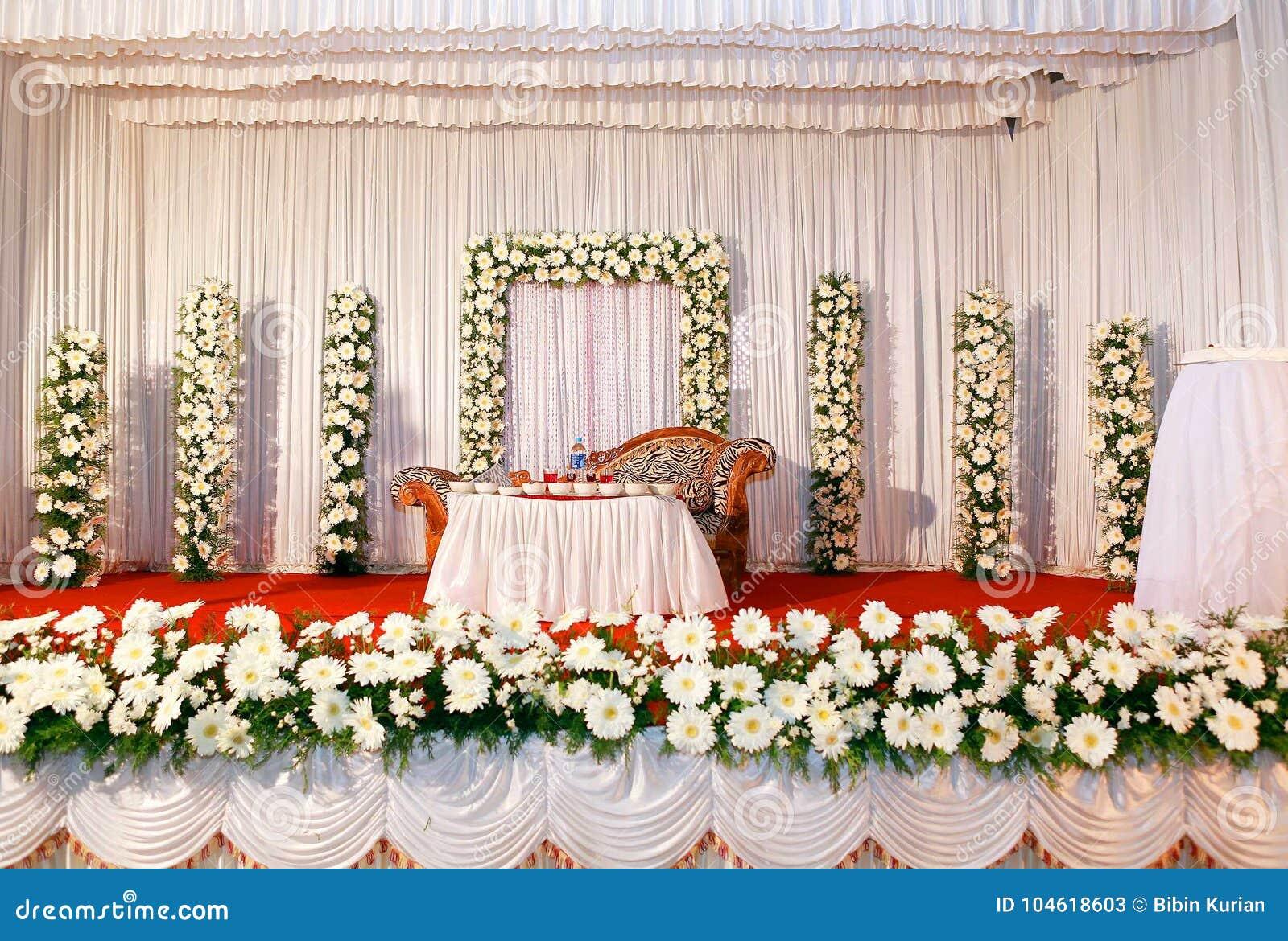 Wedding Stock Image Image Of Stage Decoration Ceremony 104618603