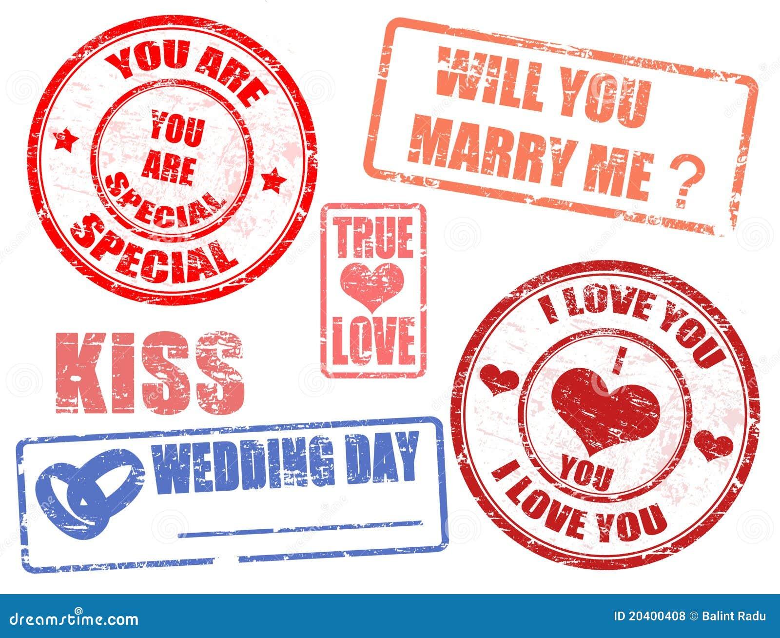 Wedding stamps stock vector. Illustration of elegance - 20400408