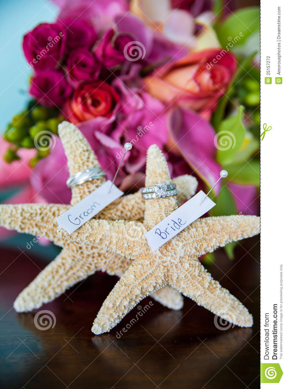 Download Wedding starfish stock photo. Image of ring, rings, fishes - 25157272