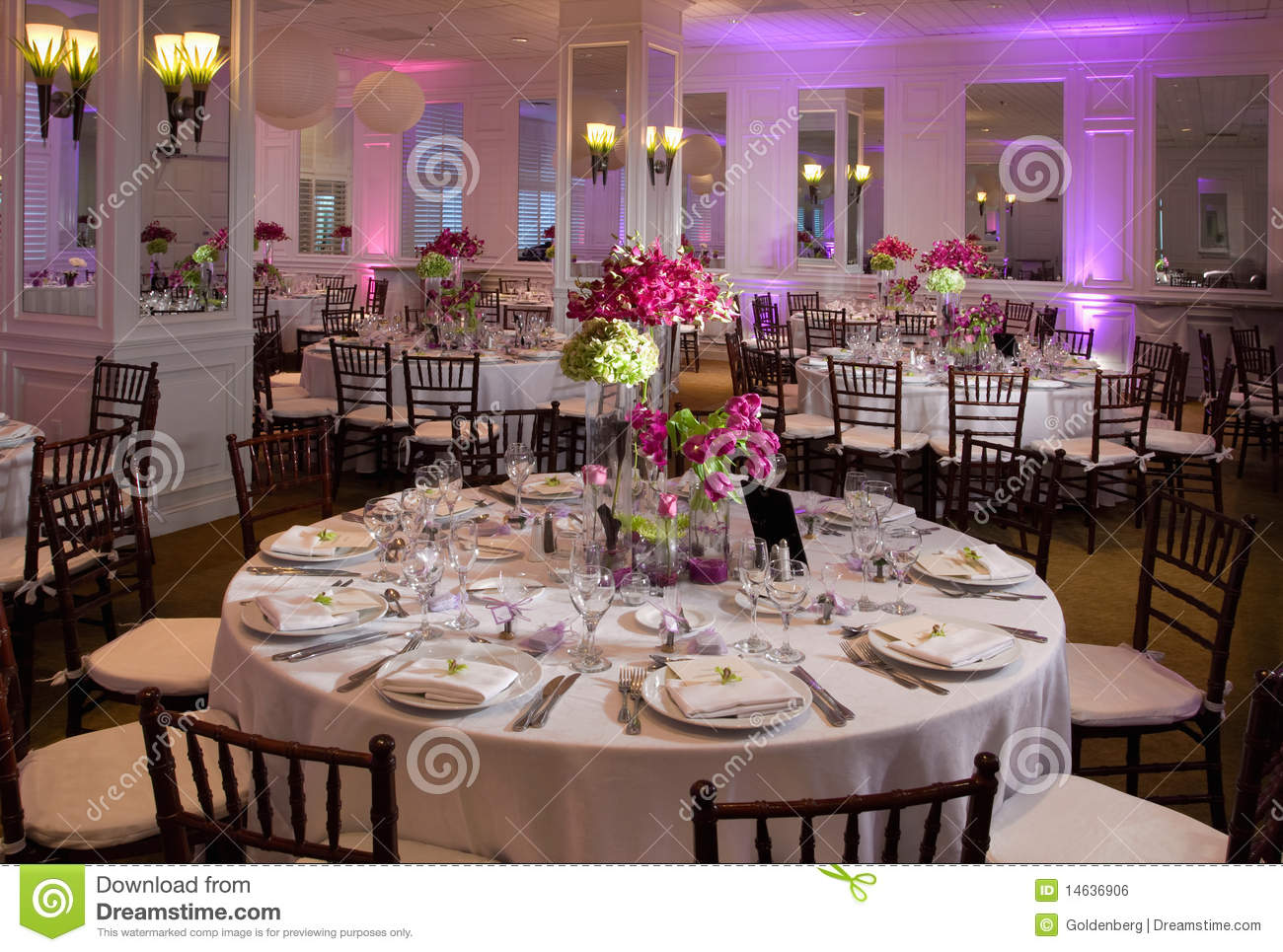 Wedding Table Royalty Free Stock Image - Image: 14636906