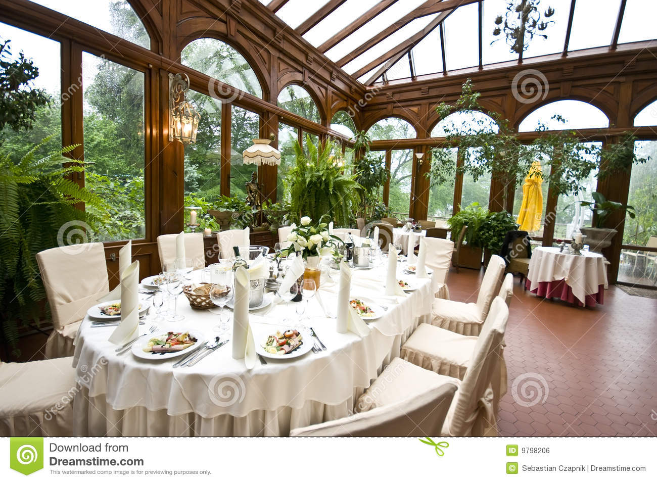 Indoor Wedding Venue Royalty Free Stock Photo: Wedding Table Stock Photo. Image Of Laid, Luxurious