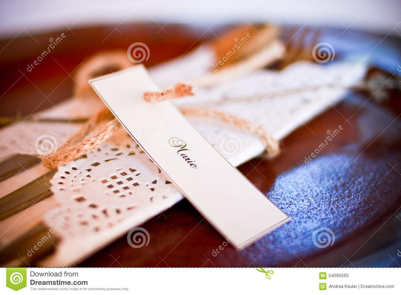 Wedding Table Accessories stock image  Image of accessories