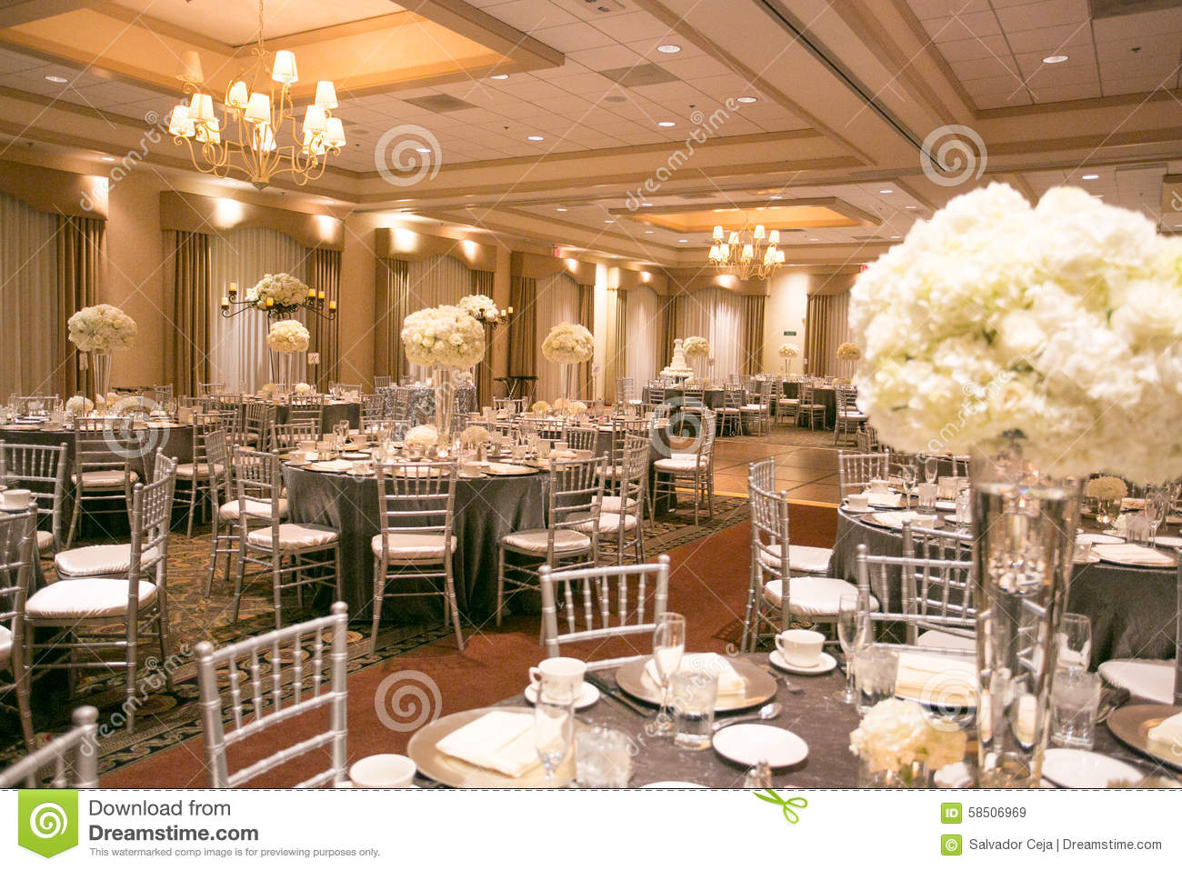 Wedding table decor stock image. Image of glamour, convention - 58506969