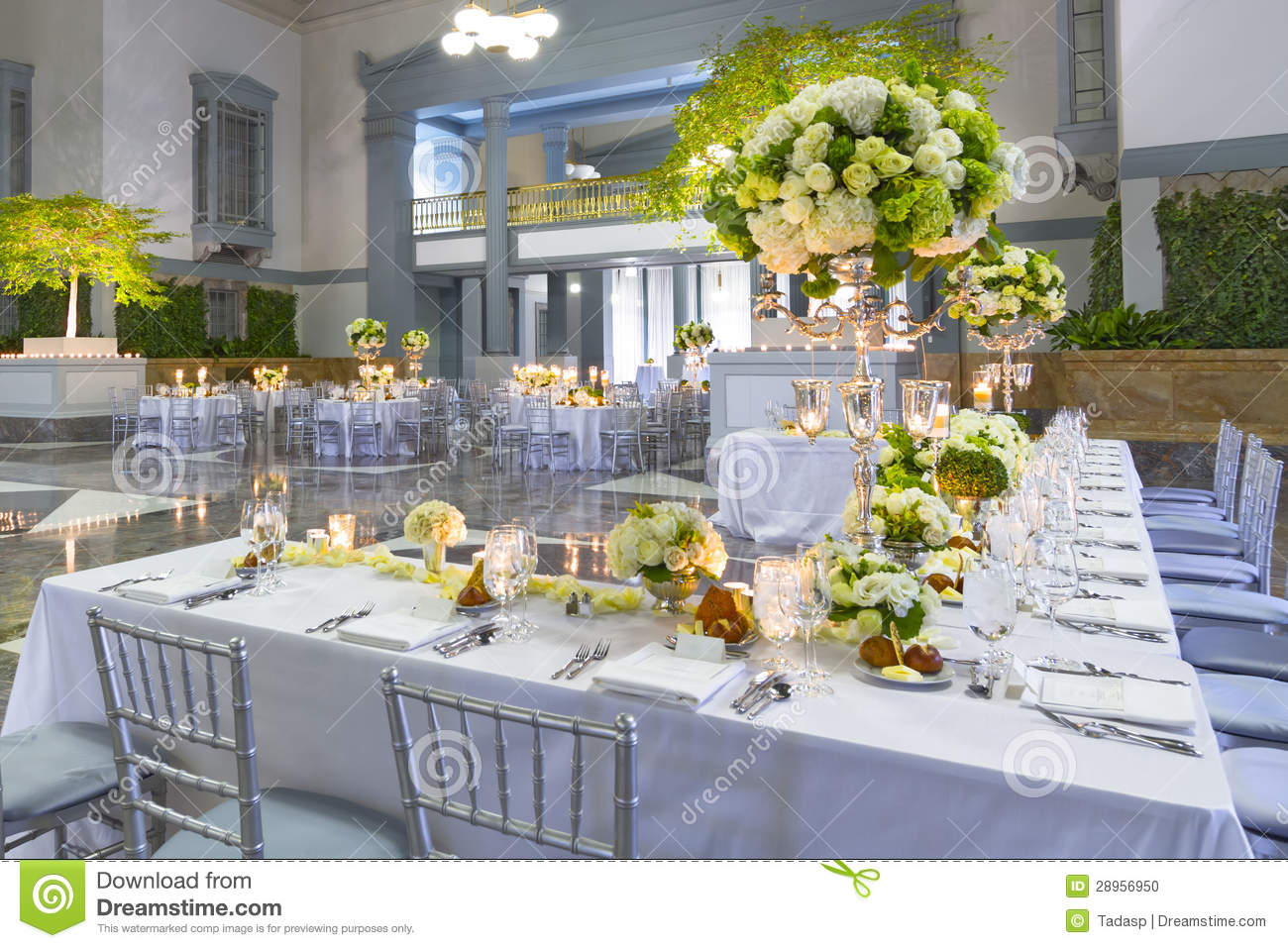 Wedding Table Decorations Stock Photo Image Of Linens