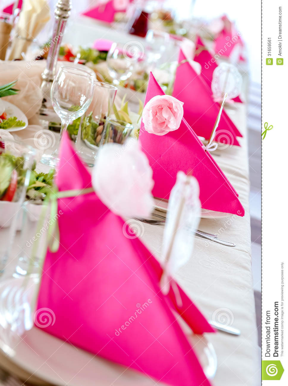 Wedding Table Decorations Stock Image Of Dining