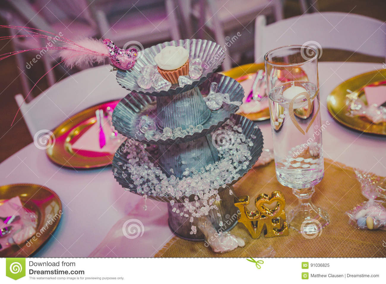 Wedding Table Decorations Stock Image Image Of Arrangement 91036825