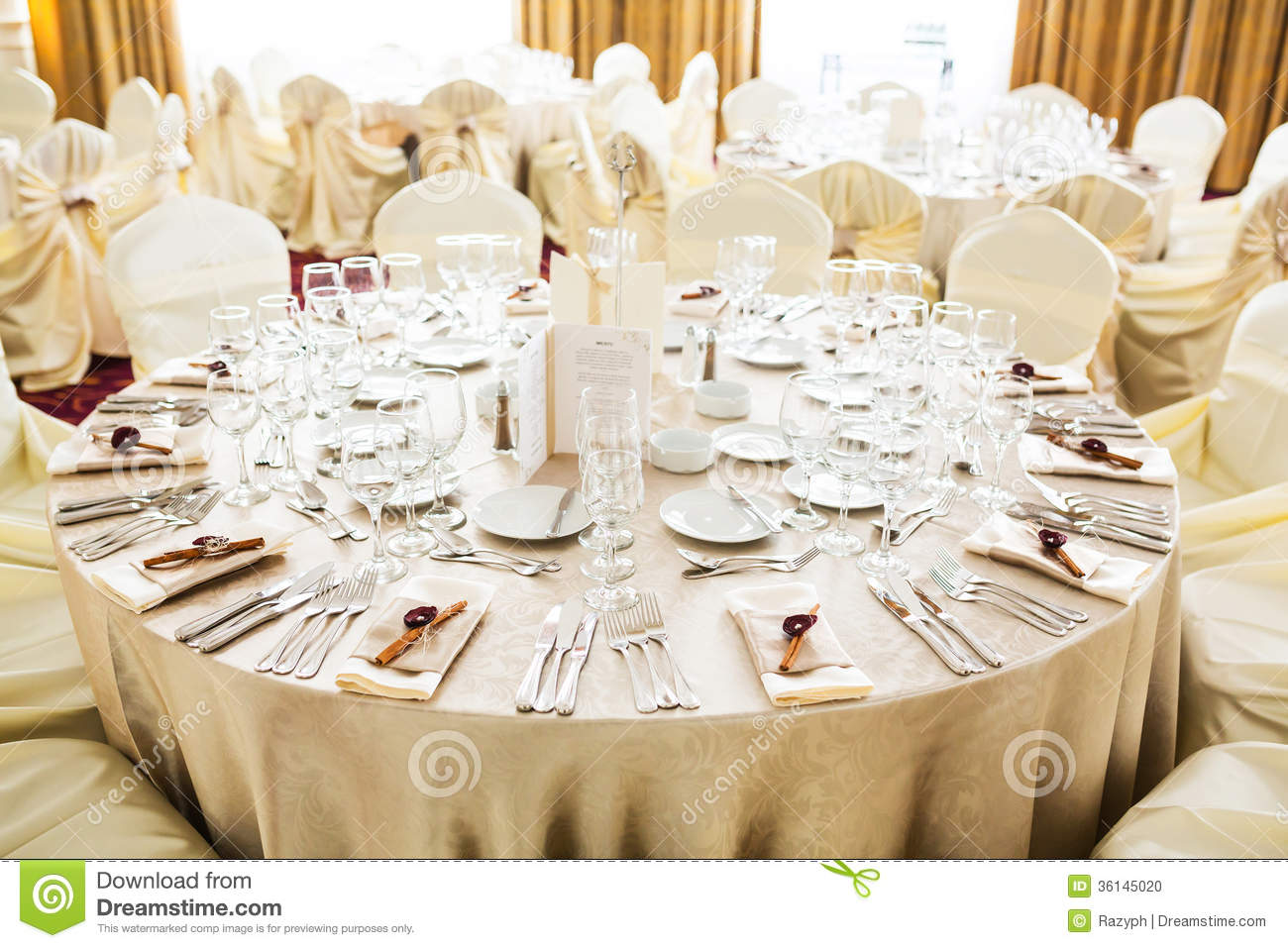 Wedding Table Stock Photo Image Of Banquet