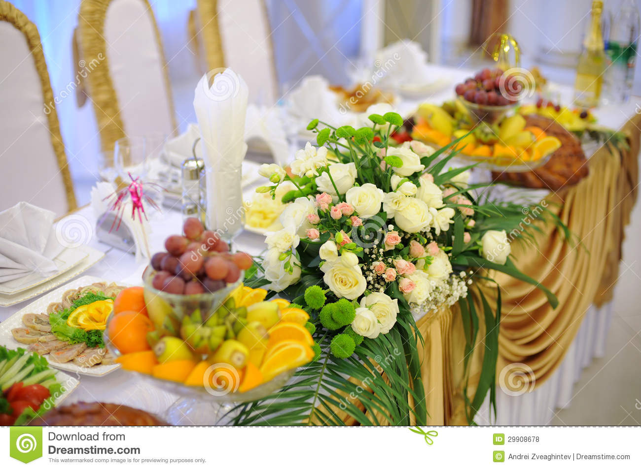 Flower decoration at restaurant stock photo image of