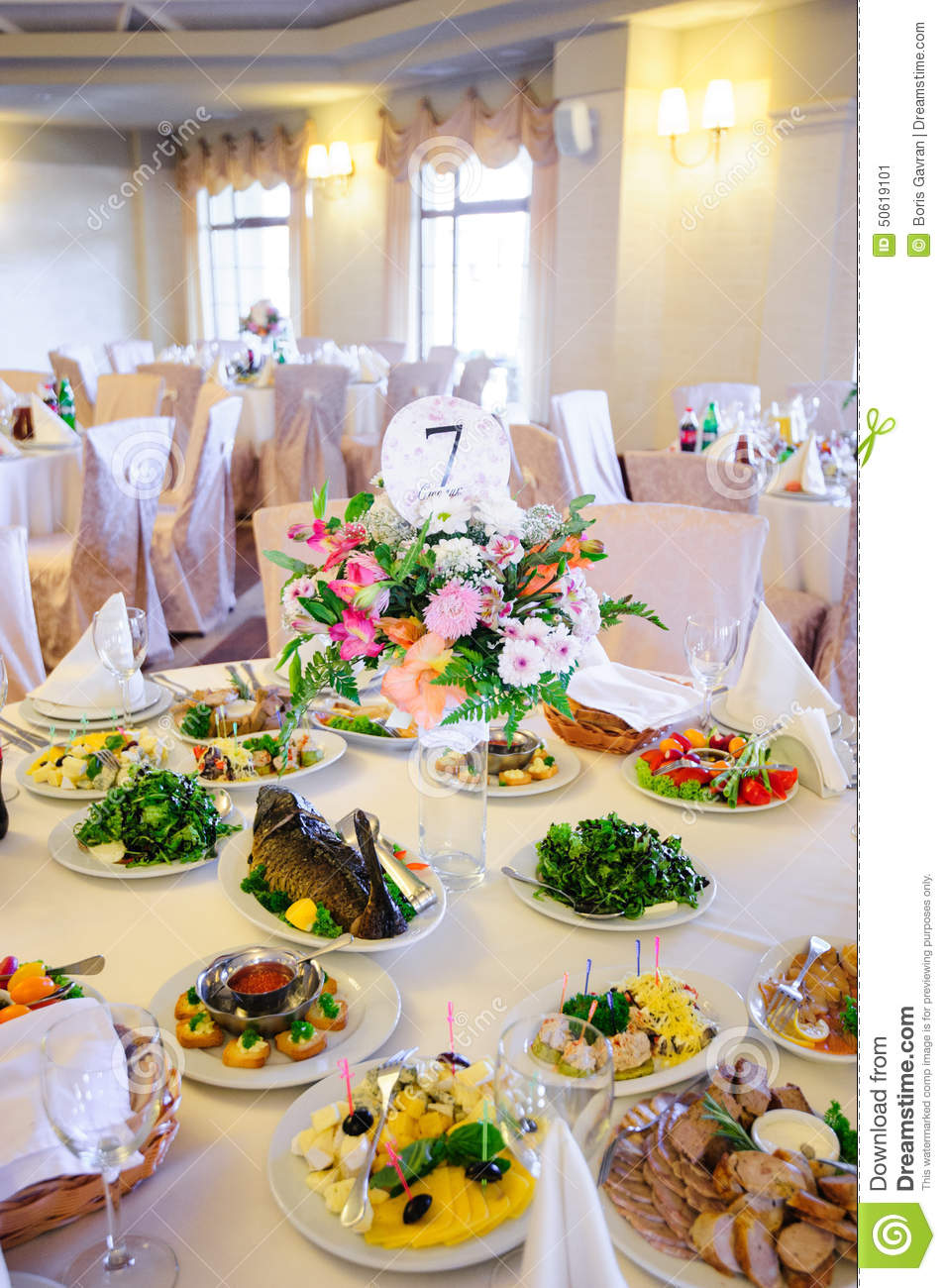 Wedding table with food stock image image of dinner for Table snack cuisine