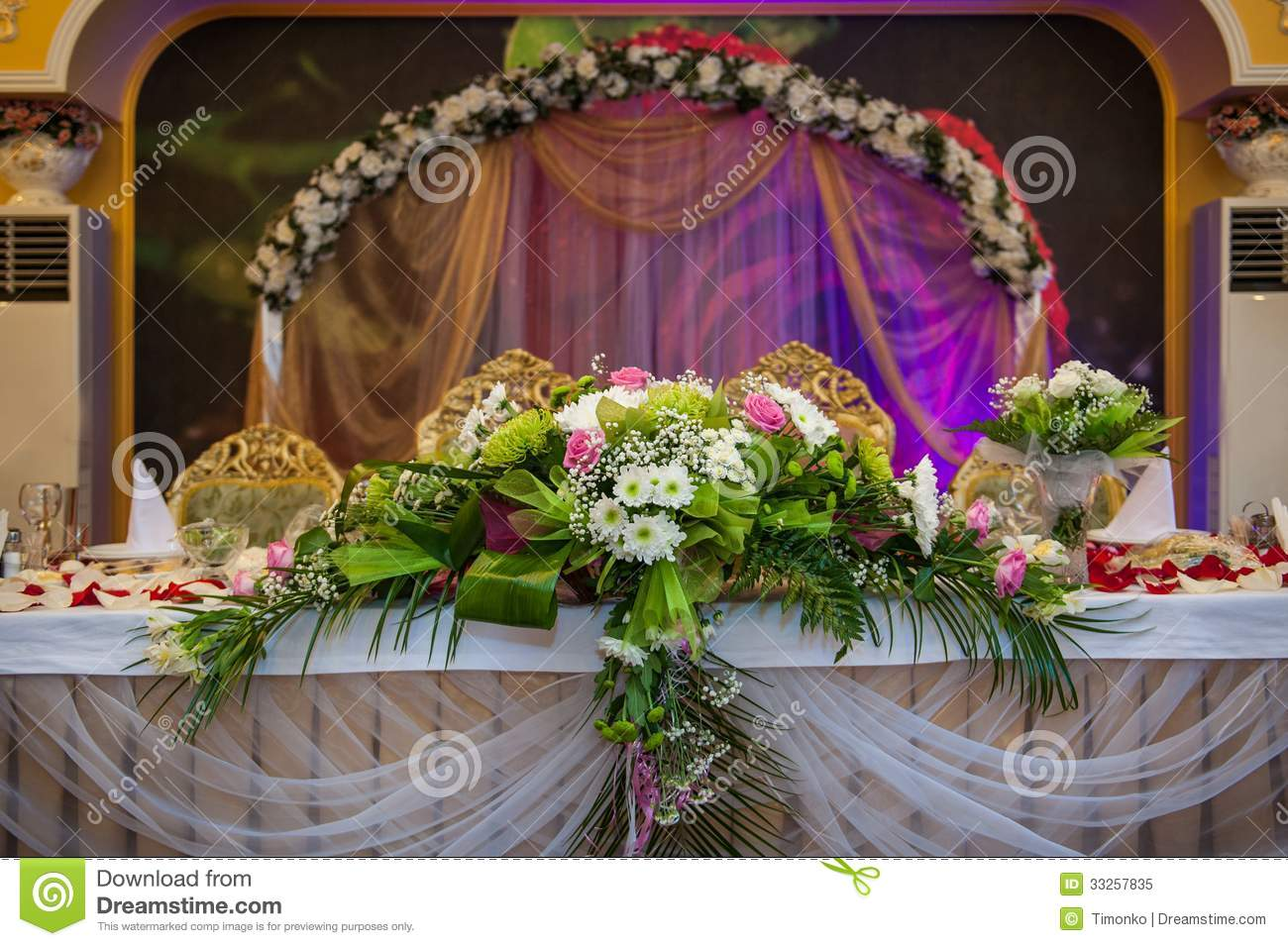 Wedding Table Groom And Bride Stock Image Image 33257835 : wedding table groom bride decoration flowers 33257835 from www.dreamstime.com size 1300 x 955 jpeg 166kB