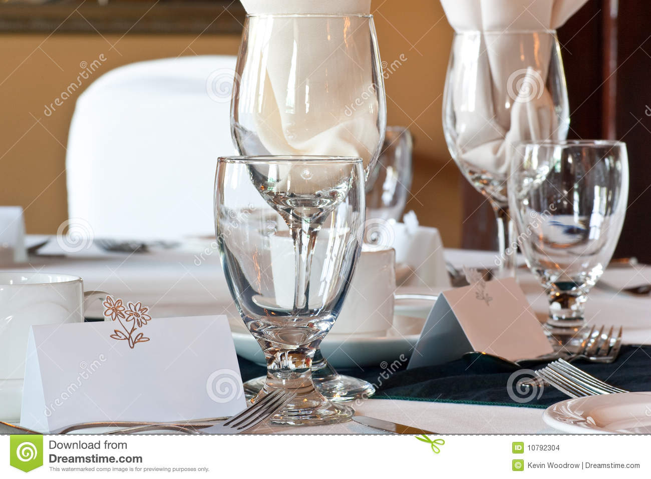 glasses table setting. Wedding Table Place Setting With Blank Card Glasses Y
