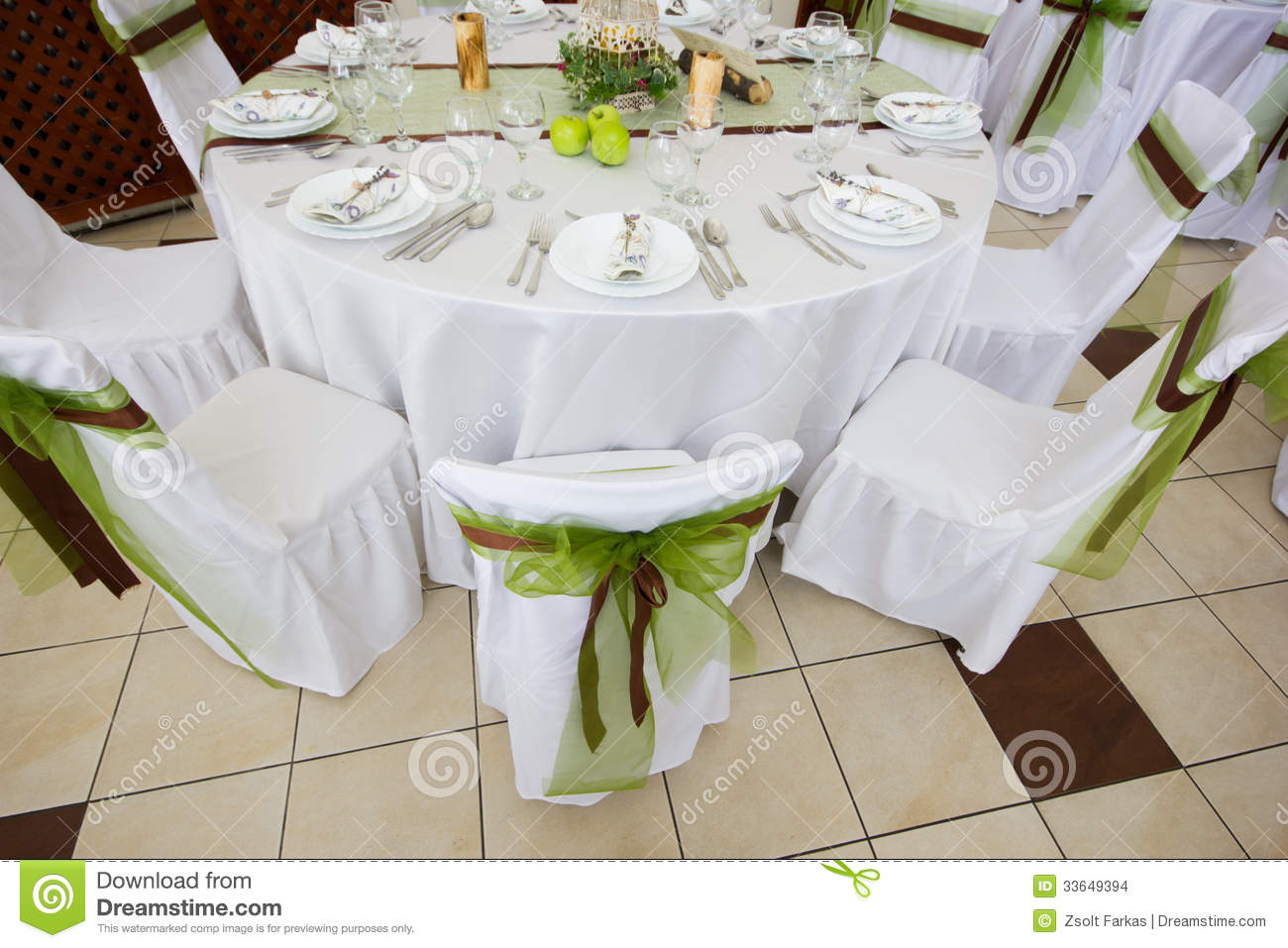 Wedding table set with decoration for fine dinning or another wedding table set with decoration for fine dinning or another catered event junglespirit Choice Image