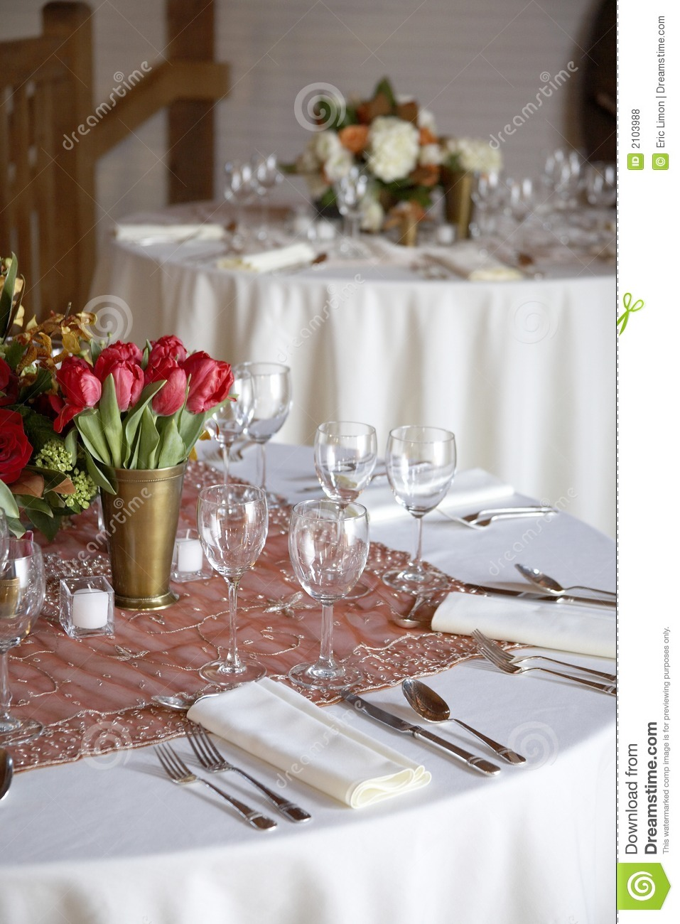 Wedding table set for fine dining royalty free stock for Fine dining table setting