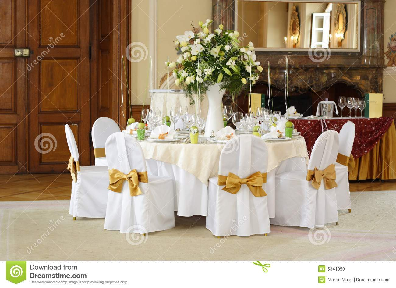 Download Wedding Table Setting Stock Photo. Image Of Hall, Celebration    5341050