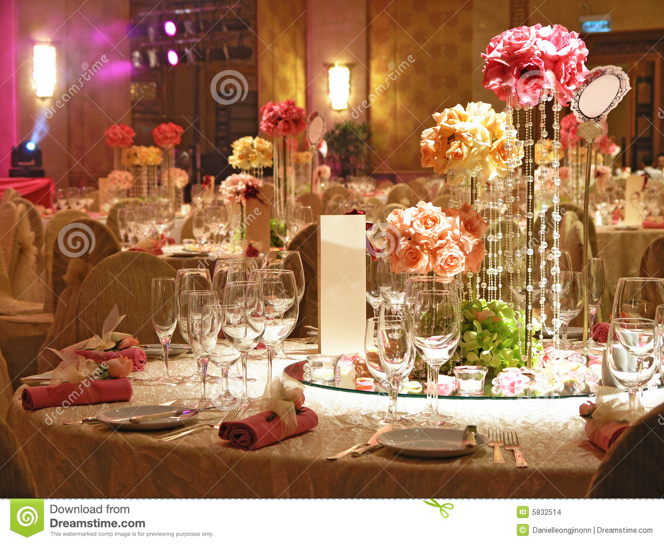 Wedding Table Setting Stock Images - Image: 5832514