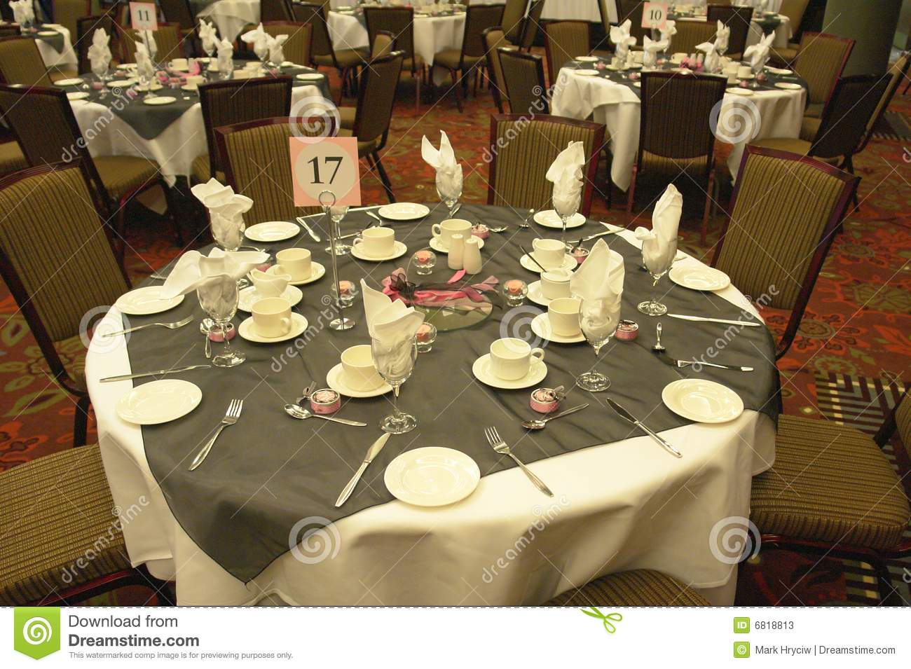 Wedding Table Settings Stock Image Of Cutlery