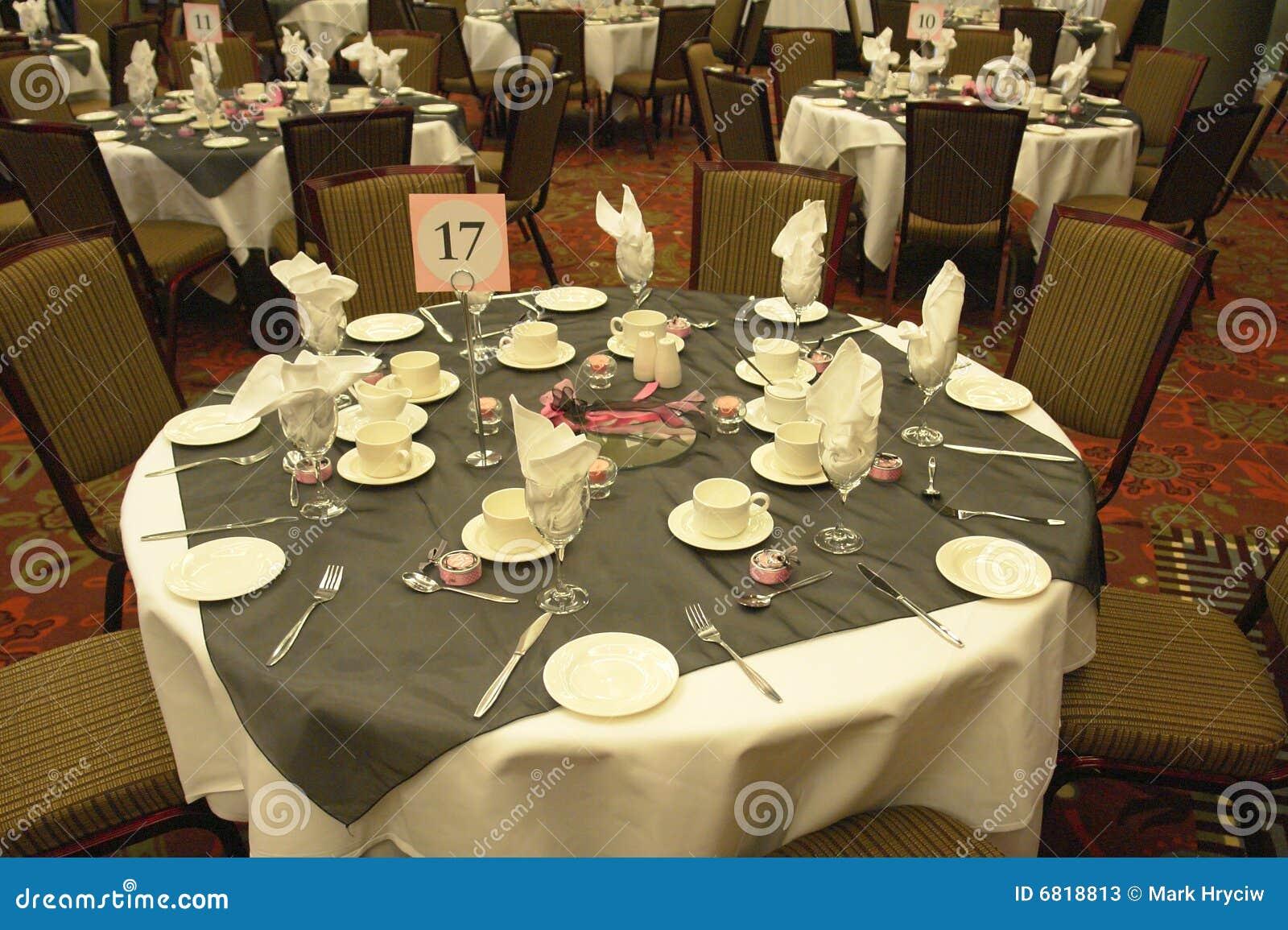 Wedding Table Settings Stock Photos
