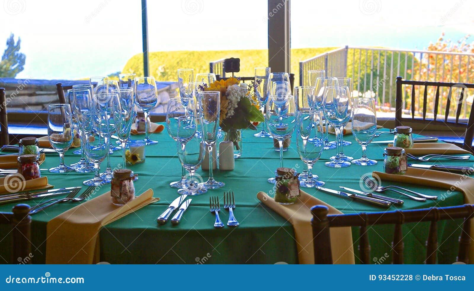 Wedding Venue Table Settings Stock Photo Image Of Beautiful