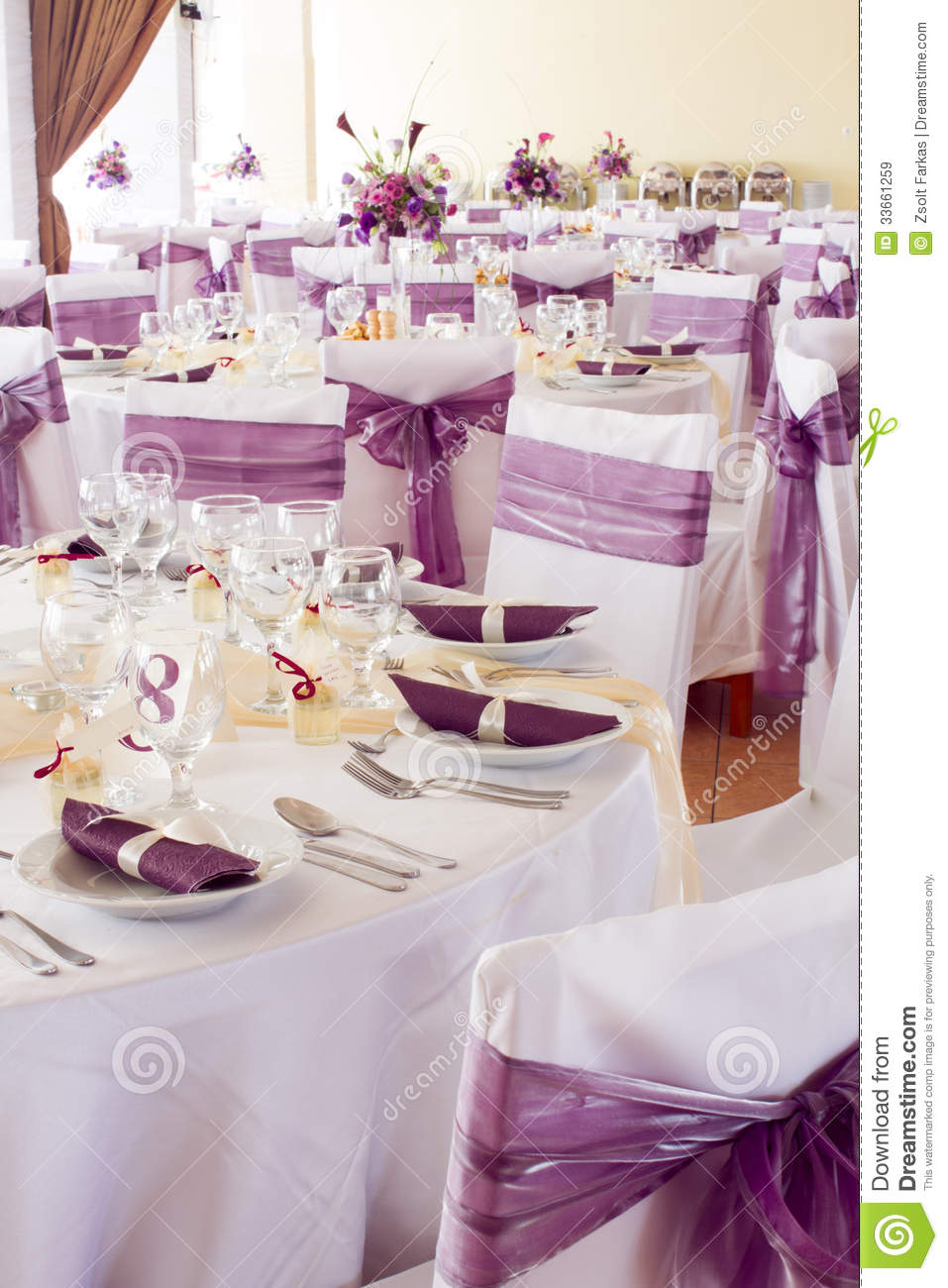 Wedding Tables Set For Fine Dining Or Another Catered