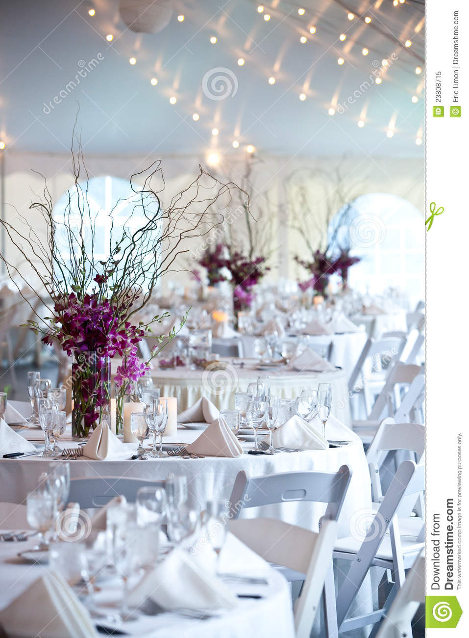 Wedding Tables Under A Tent Stock Image Image 23808715