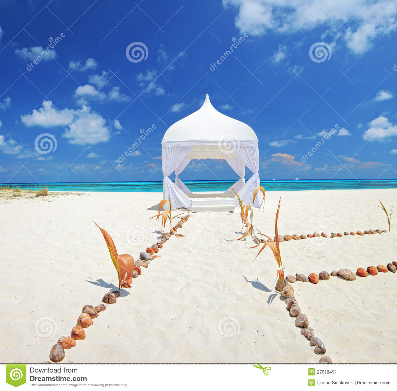 Royalty Free Stock Photo Download Wedding Tent On A Beach At Maldives