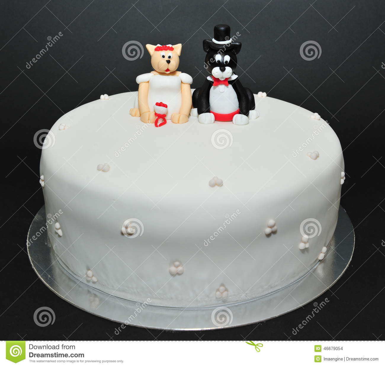 Wedding theme fondant cake stock photo. Image of celebrate - 46679054