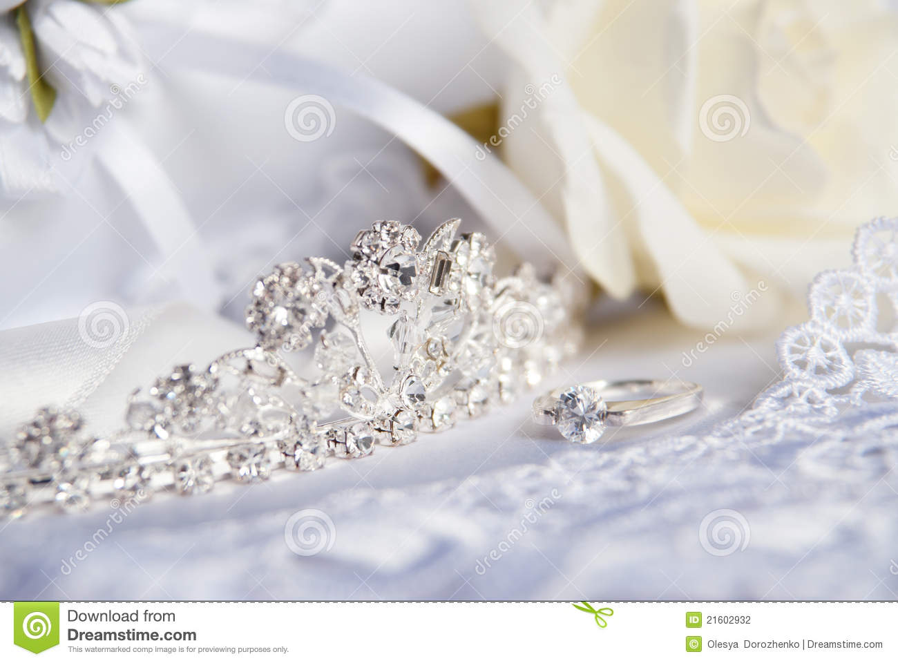 Wedding tiara diadem and bridal accessories stock photo for Where to buy wedding accessories