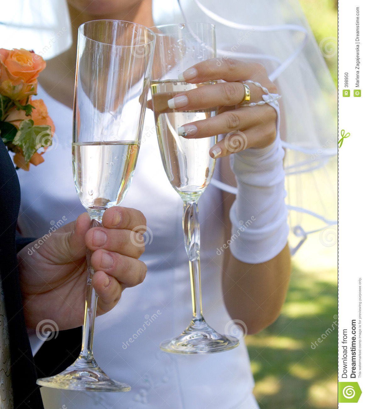 Wedding Toast Stock Photo. Image Of Flowers, Couple