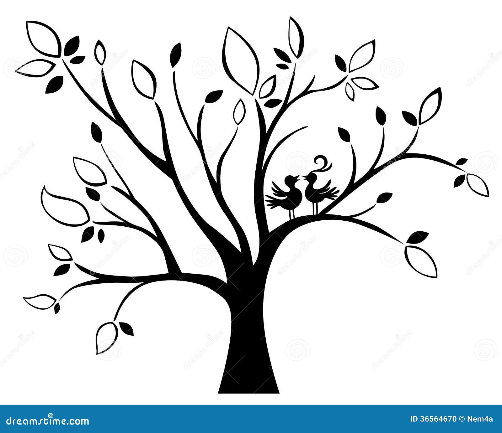 wedding tree stock vector illustration of celebration 36564670. Black Bedroom Furniture Sets. Home Design Ideas