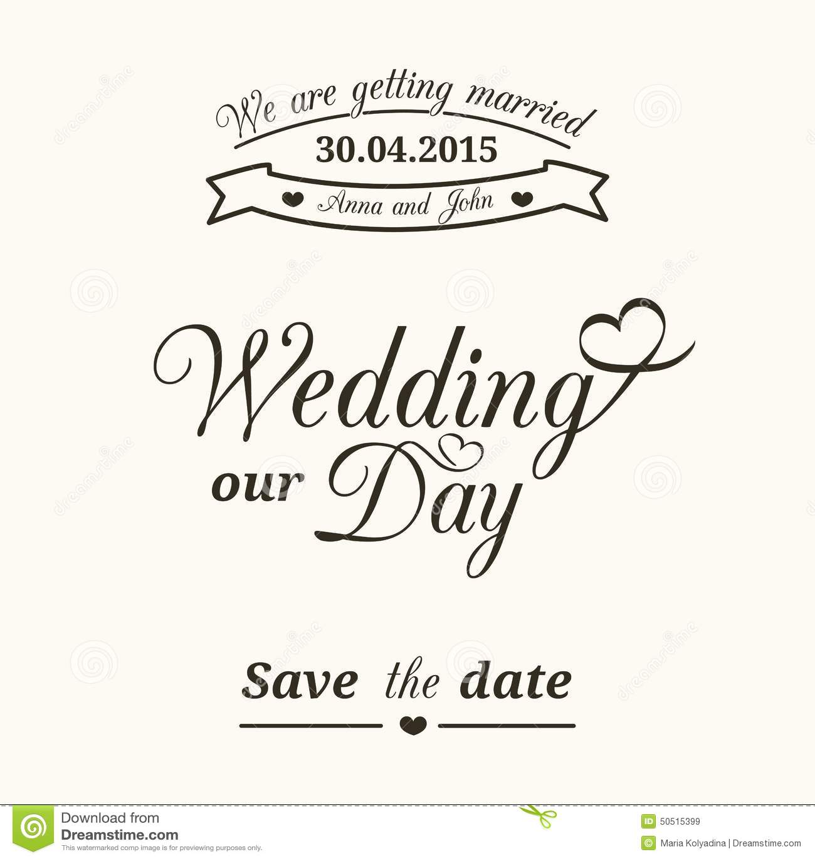 Wedding typography stock vector image 50515399 royalty free vector download wedding typography stopboris Gallery