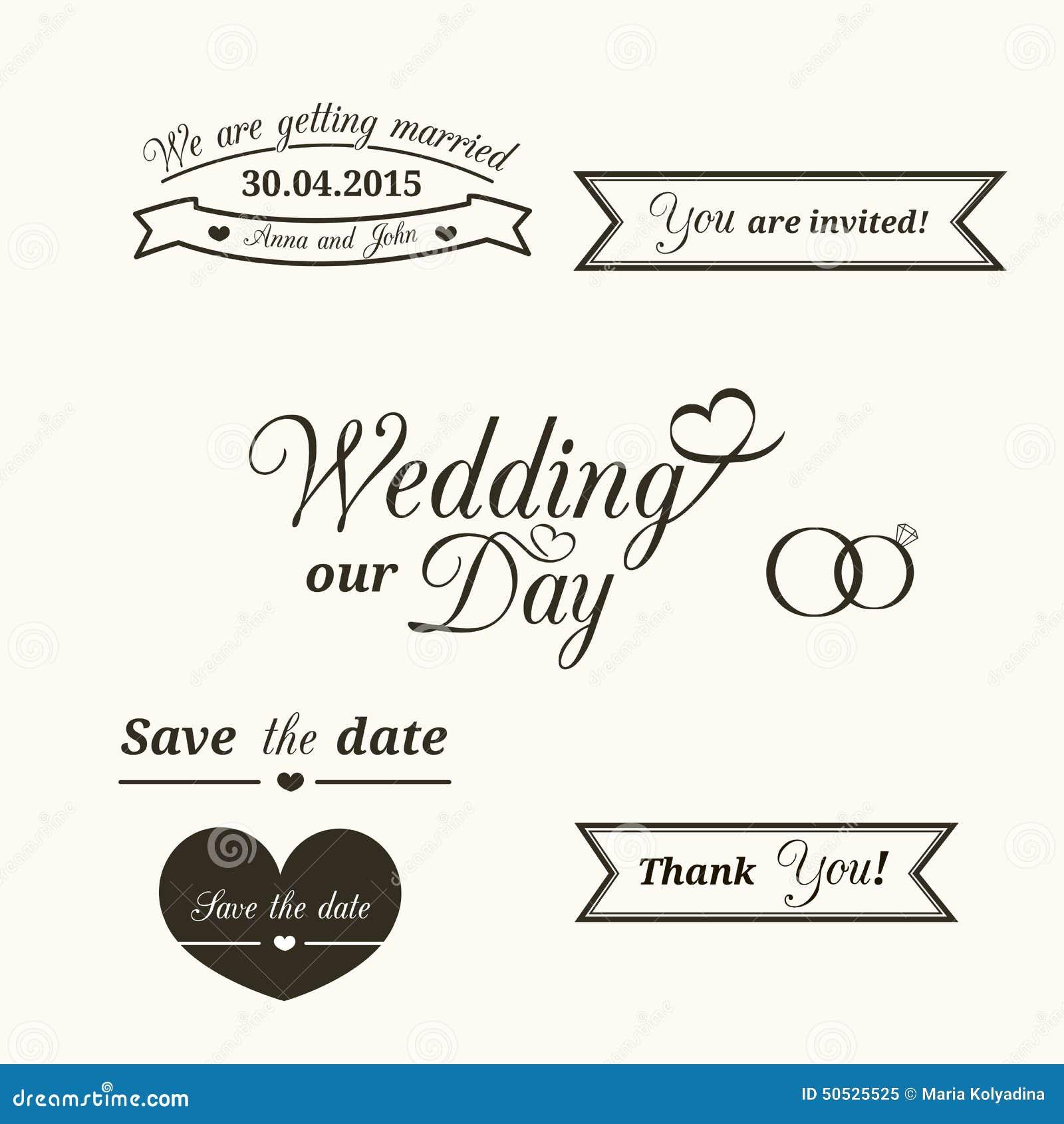 Wedding invitation design typography 28 images wedding wedding invitation design typography wedding typography stock illustration image 50525525 stopboris Gallery