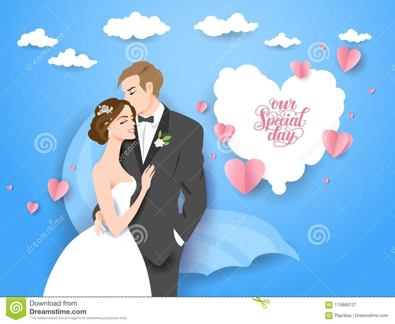 Wedding Vector Couple Stock Vector Illustration Of Girl