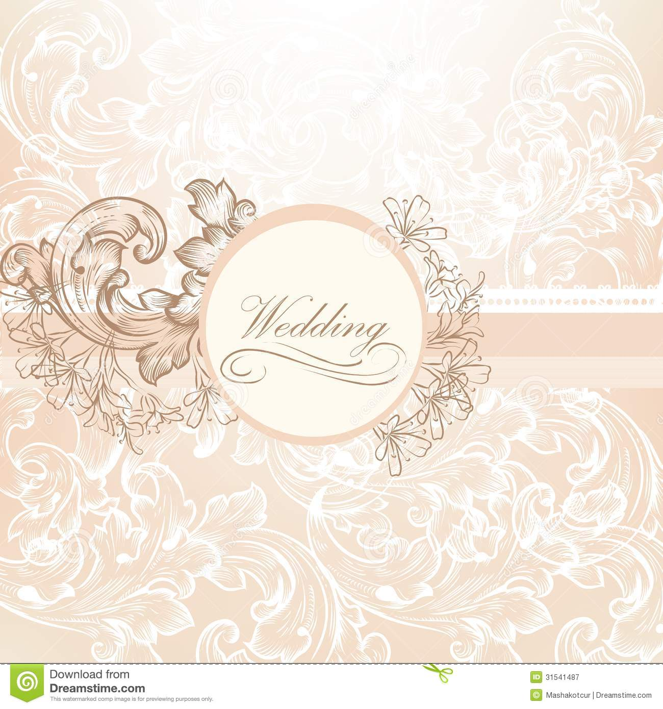 Free Pattern For Wedding Dress Card Design