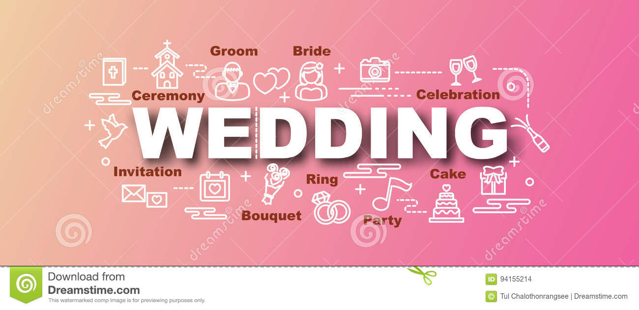 Wedding Vector Trendy Banner Stock Vector Illustration Of Dove Diamond 94155214