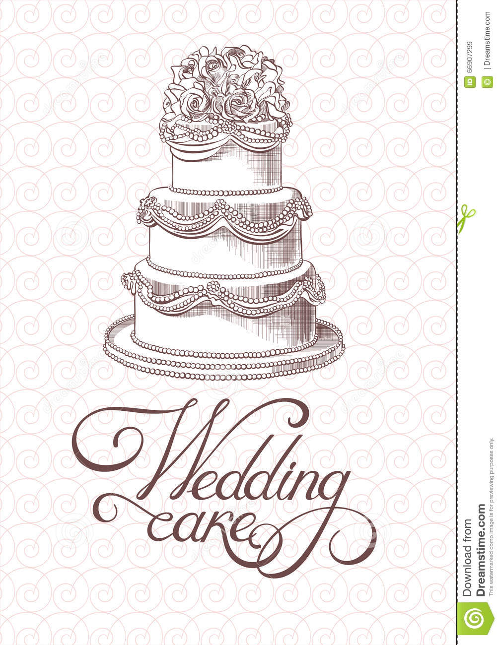 wedding cake vector wedding vintage cake vector stock vector image 66907299 26758