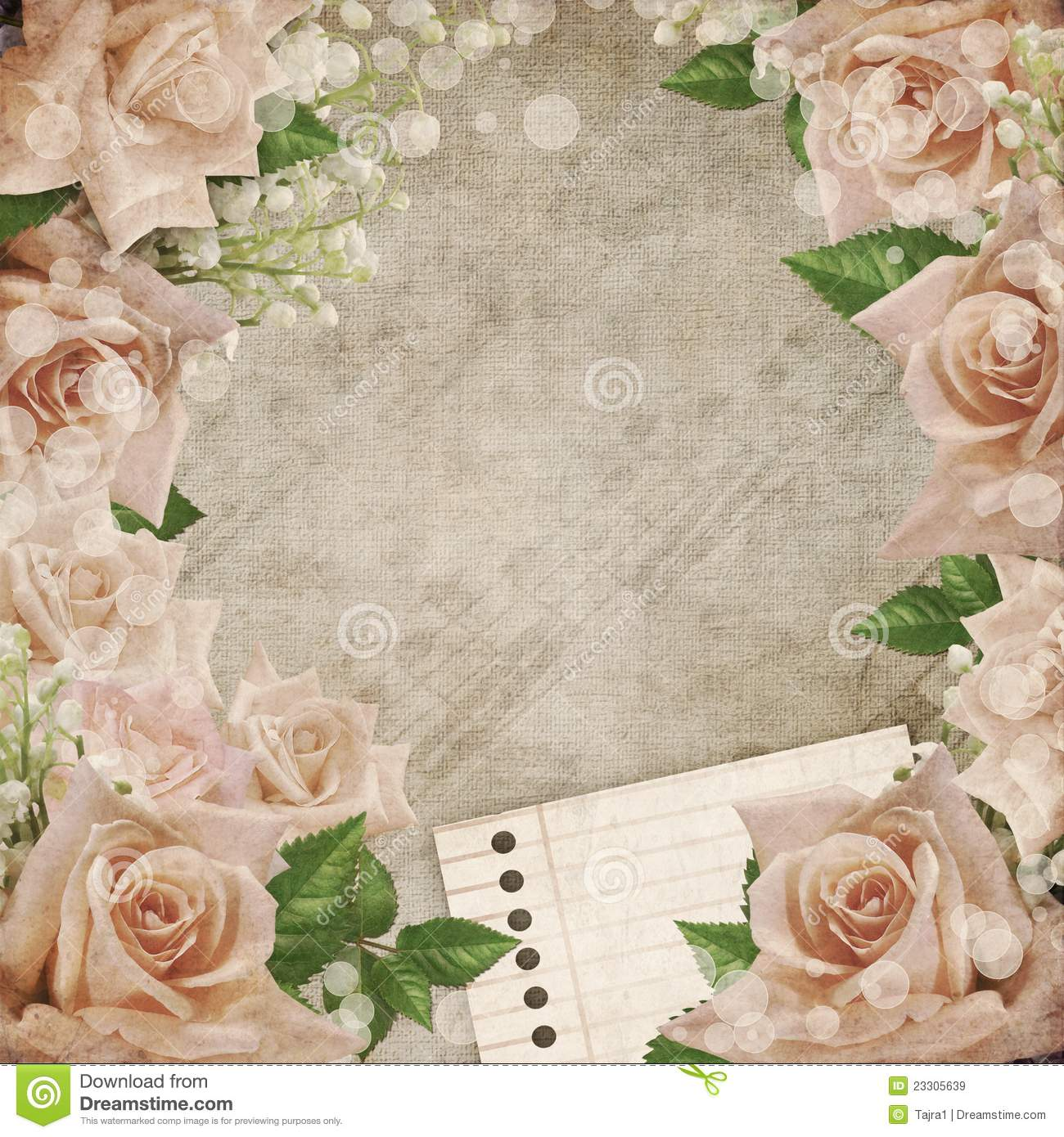 wedding vintage romantic background ith roses stock illustration illustration of banner leaf 23305639 dreamstime com